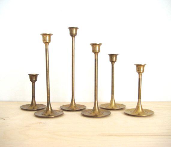 Brass Candlesticks vintage brass candlesticks | urban poppy: for heather and robert