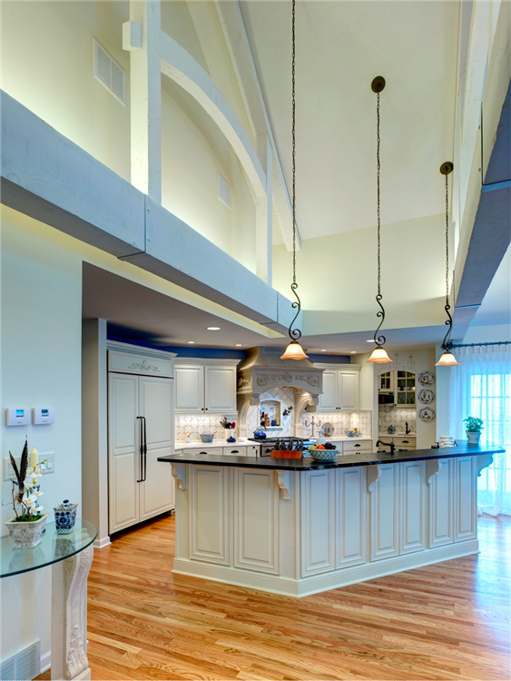 Among The Outstanding Features Of This Kitchen Are Its 15 Ft High Cathedral Ceiling And Hand H