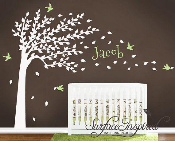 les plus beaux stickers muraux pour la chambre de b b arboles pintados pinterest. Black Bedroom Furniture Sets. Home Design Ideas