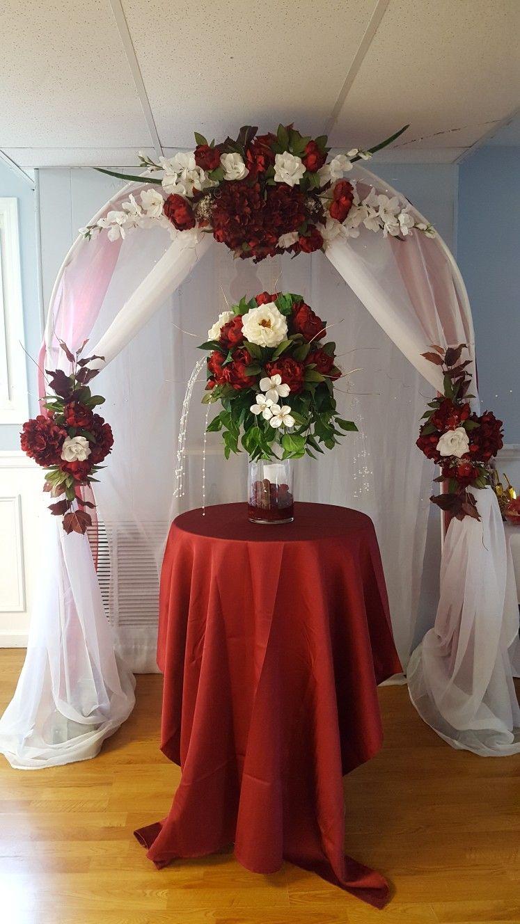Arco de matrimonio deco iglesia for Adornos para bodas con plantas