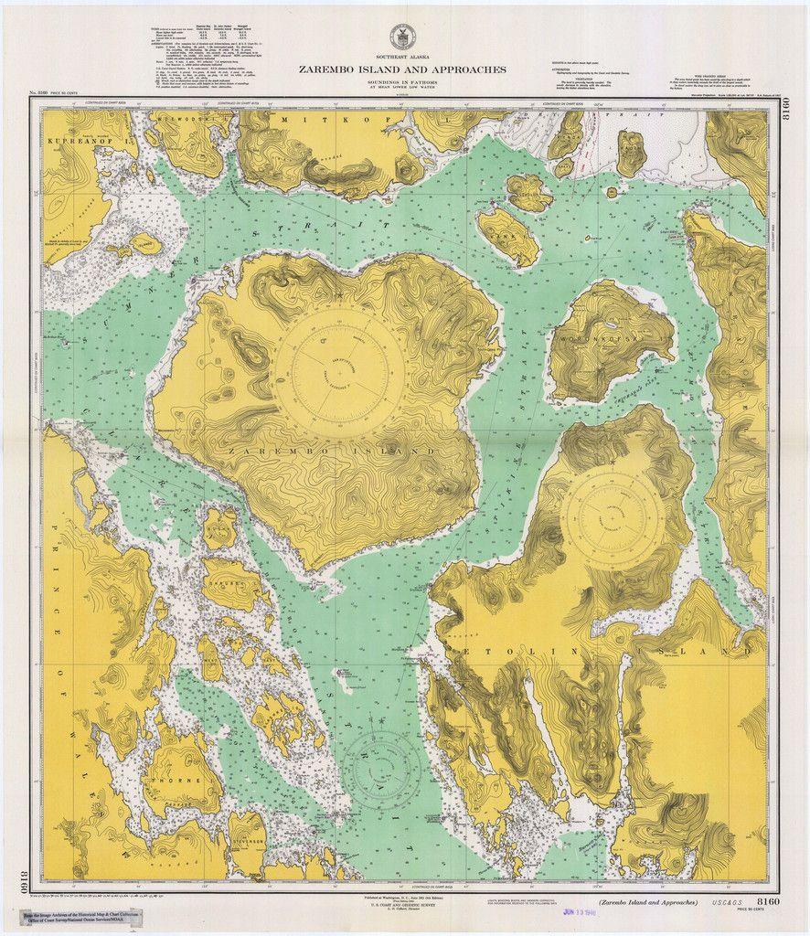 Zarembo Island Alaska Historical Map Alaska - Map of northwest us and alaska