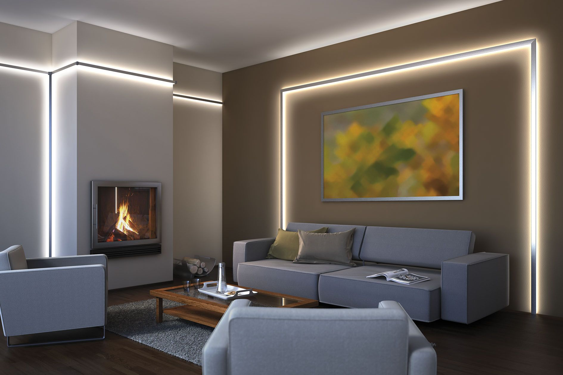 paulmann led profiles   İç aydınlatma / indoor lighting, Wohnzimmer