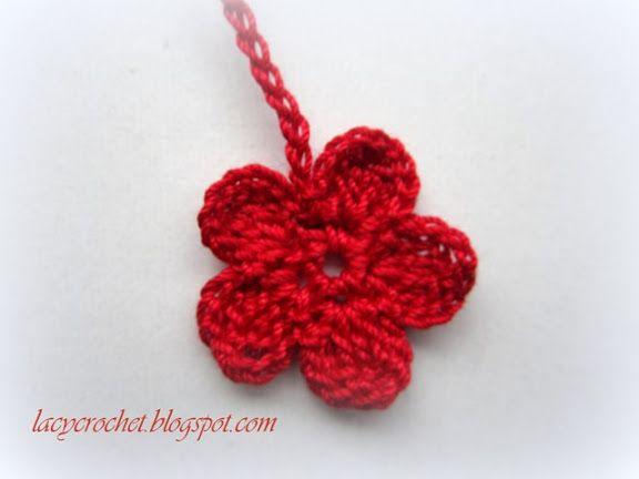 Lacy Crochet: Crochet Thread Flower, Photo Tutorial | Art ...