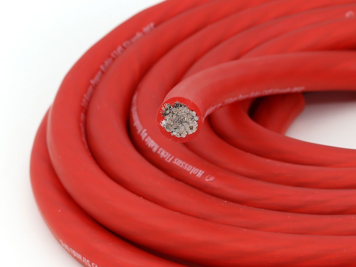 Knukonceptz Kolossus Flex 4 Gauge Red Ofc Power Wire 2058 Strands Of Amplifier Amp Installation Wiring Kit Ebay 149 Copper Electronics