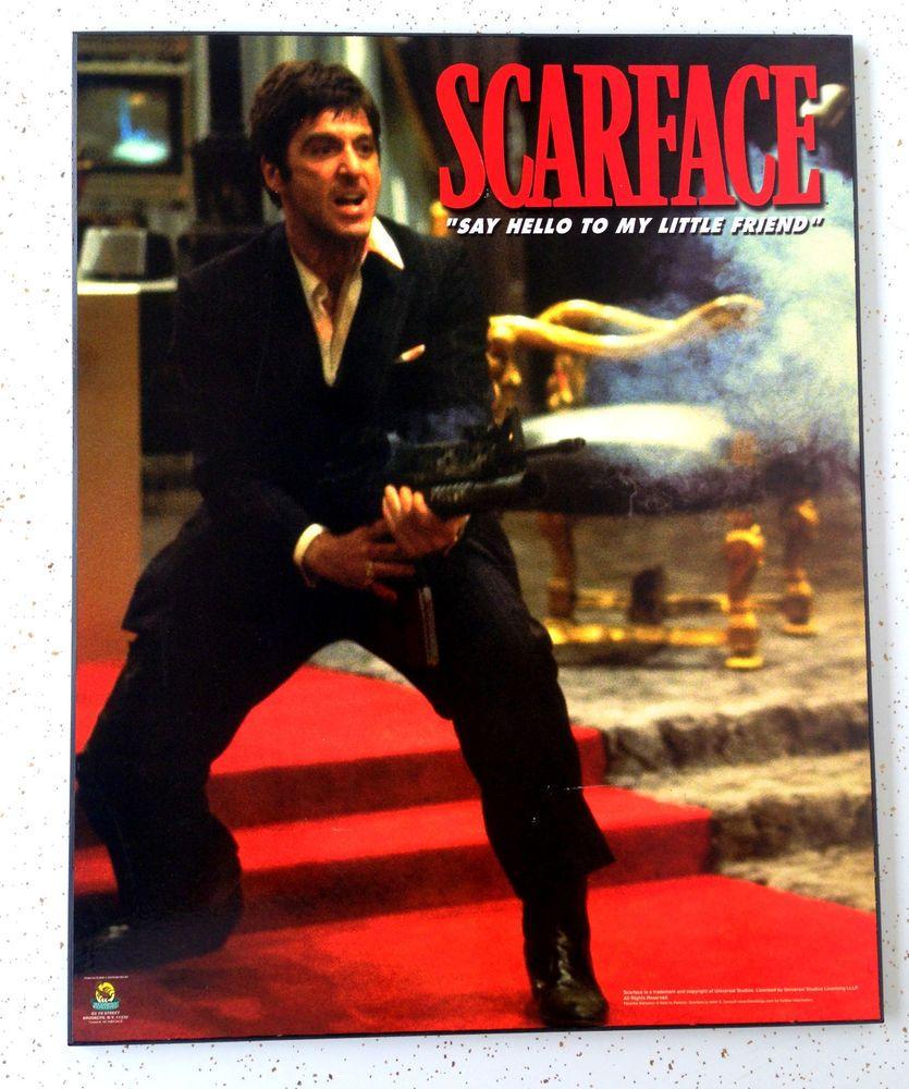 Scarface Tony Montana Al Pacino Rare Vtg Framed Poster Picture Universal Studios Scarface Movie Scarface Al Pacino
