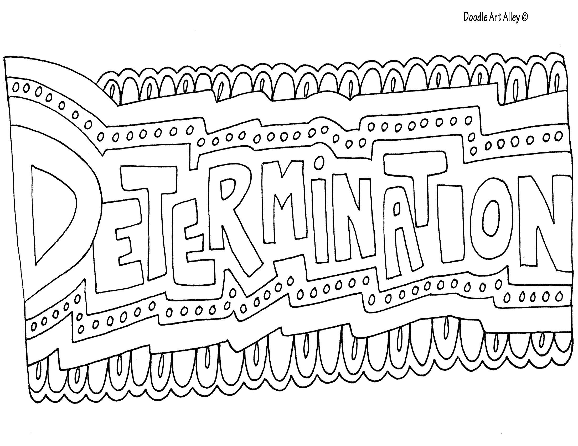 Determination Coloring Page