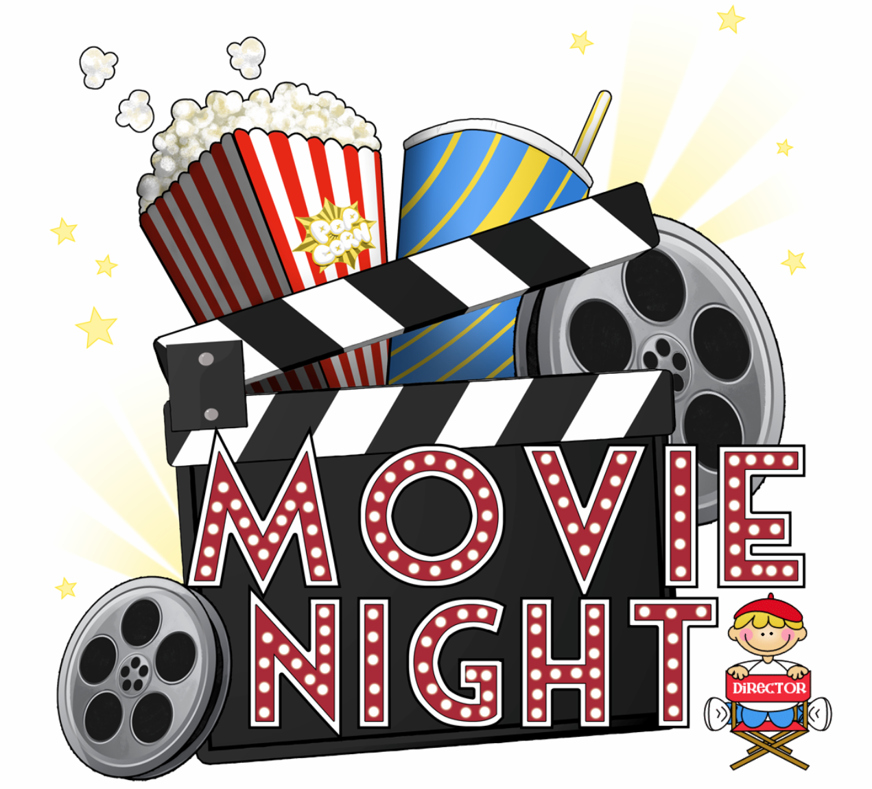Pin By Carla On Library Kid Flix Matinee Movie Night Movie Themed Party Clip Art