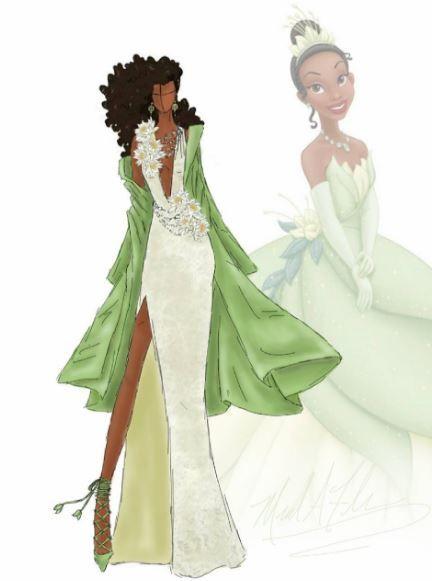Princesse disney ce designer remet les robes au go t du - Comment dessiner une princesse disney ...