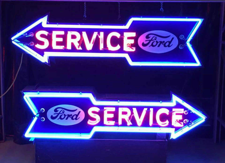 Original Ford Service Arrow Neon Sign Neon Signs Vintage Neon
