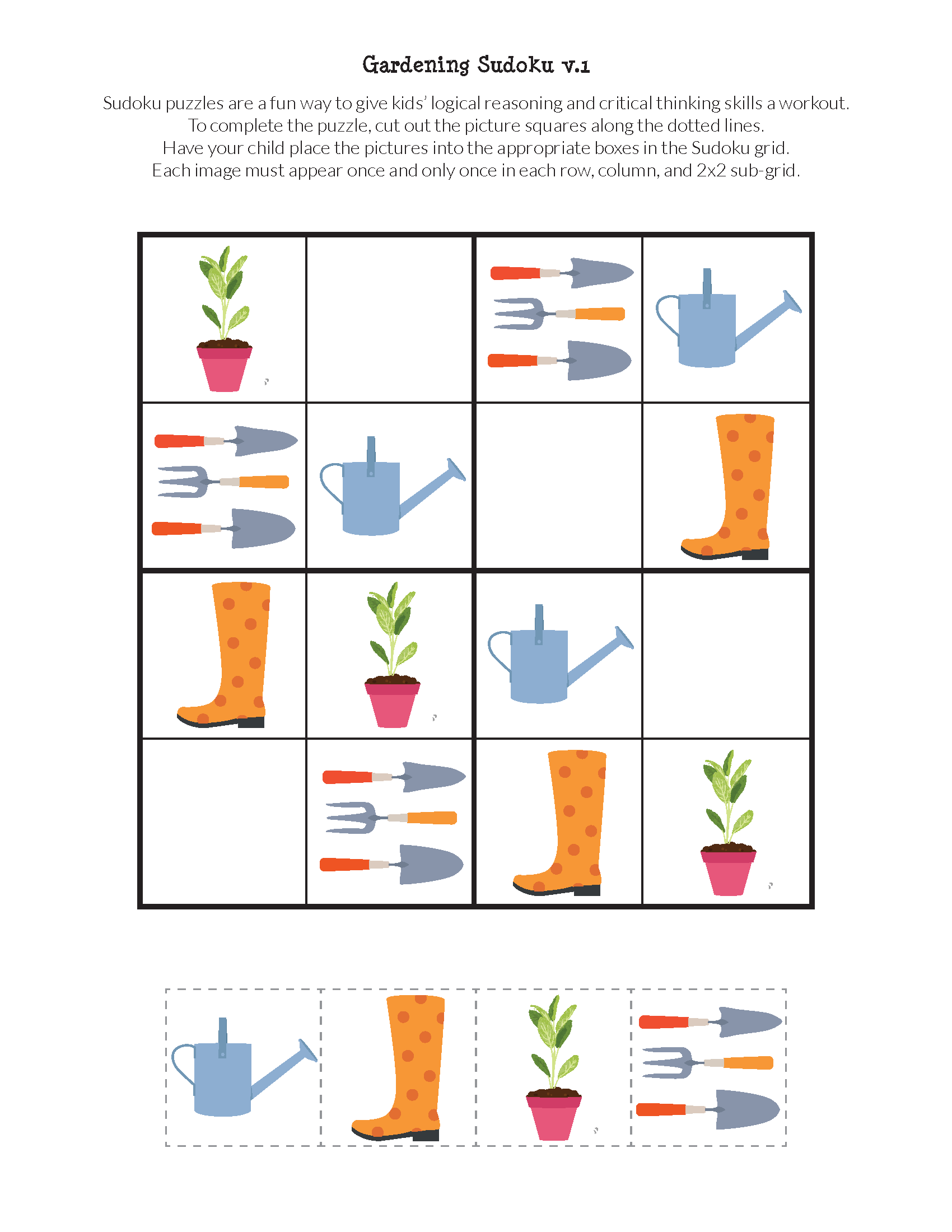 Gardening Sudoku Puzzles In