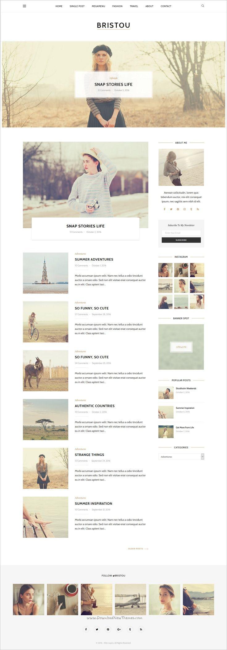 Bristou - Blog HTML Template