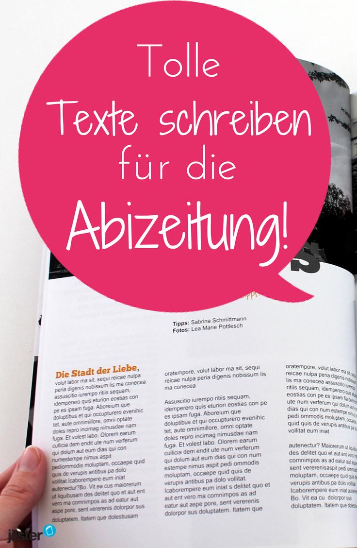 Texte Fur Eure Abizeitung Teil 7 Unserer Serie Zur Abizeitung Jilster Abizeitung Zeitung Texte Schreiben