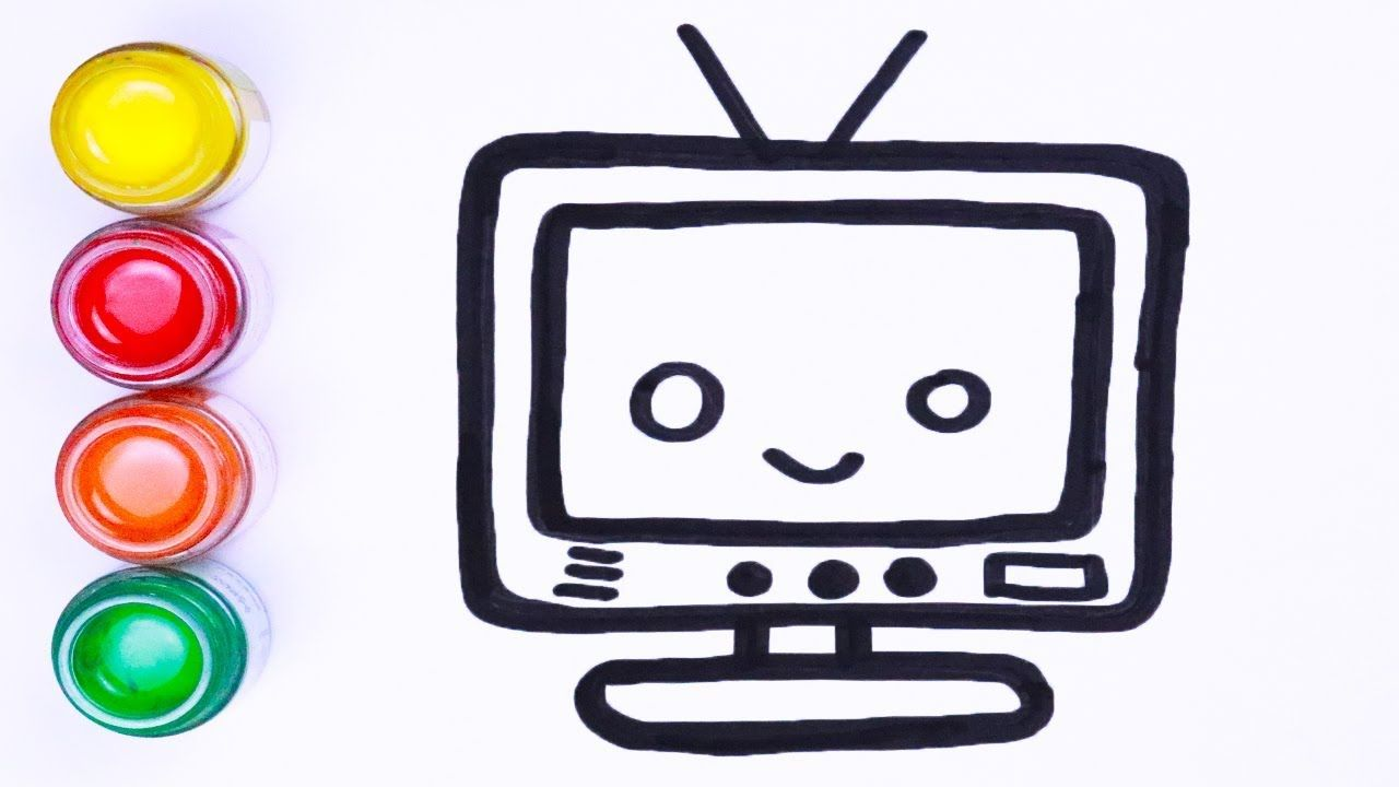 Menggambar Dan Mewarnai Tv Kartun Cara Menggambar Lukisan Warna Art Toy Make It Yourself Artwork