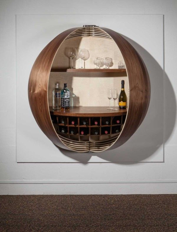 Beau A Wall Mounted Bar Cabinet Inspired By A Spinning Coin | Pinterest | Bar, Wall  Mount And Walls