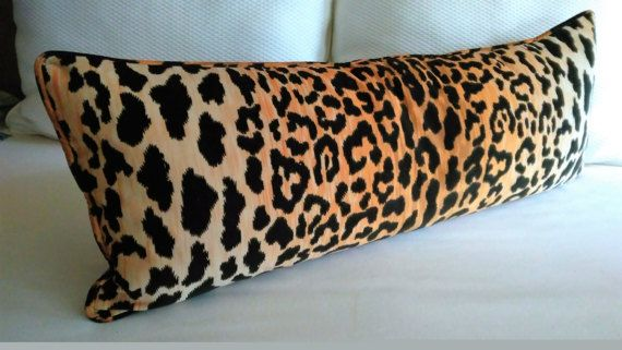 Leopard Cheetah Velvet Pillow Cover Extra Long Braemore Jamil 40x40 Impressive Extra Long Decorative Pillow