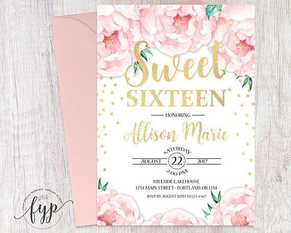 Boho birthday invitation 16th birthday invite girls sweet sweet 16 boho birthday invitation 16th birthday invite girls sweet filmwisefo