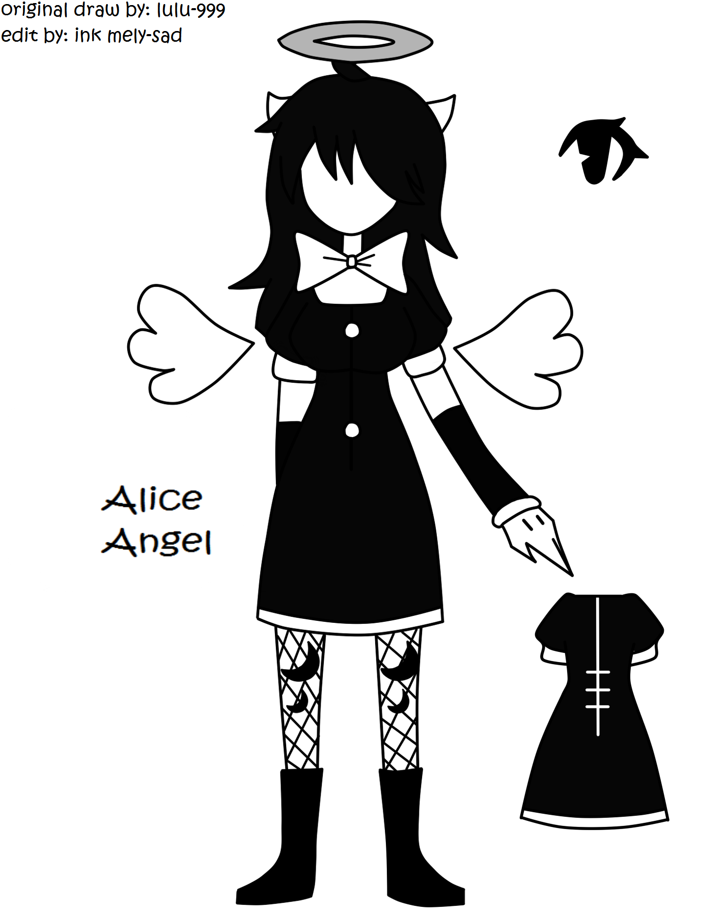 Alice Angel in human version :3 (original draw by lulu-999) | Batim ...