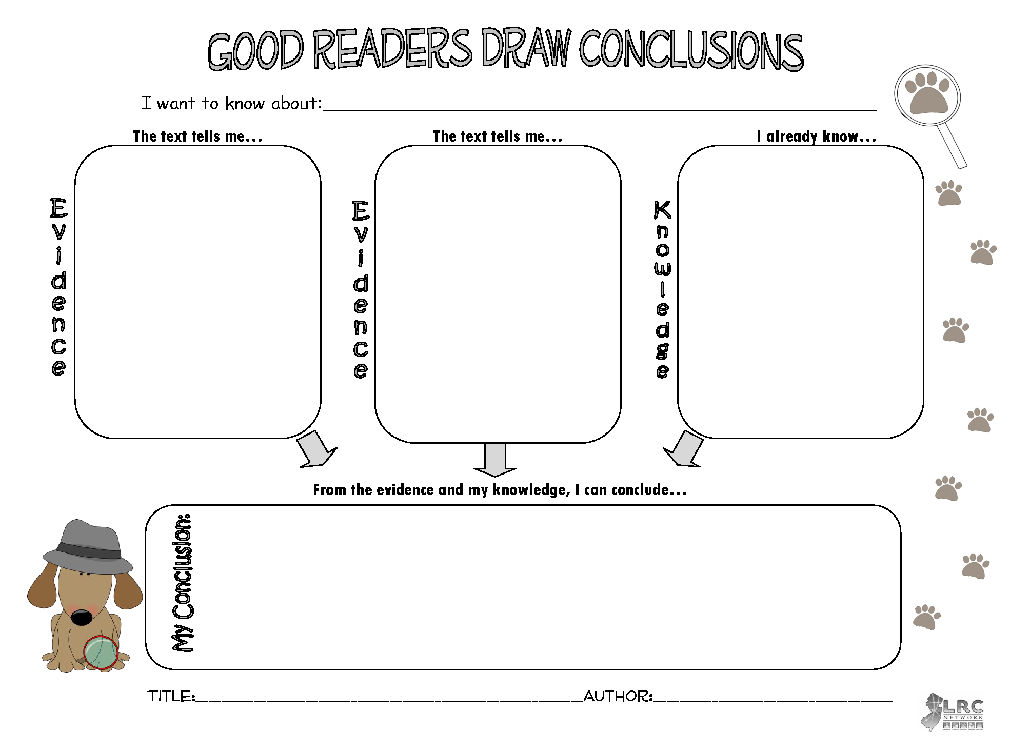 Good Readers Draw Conclusions Graphic Organizer