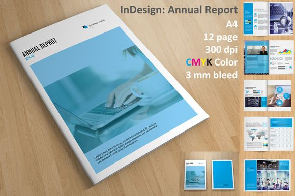 InDesign Annual Report by Template Shop on Creative Market