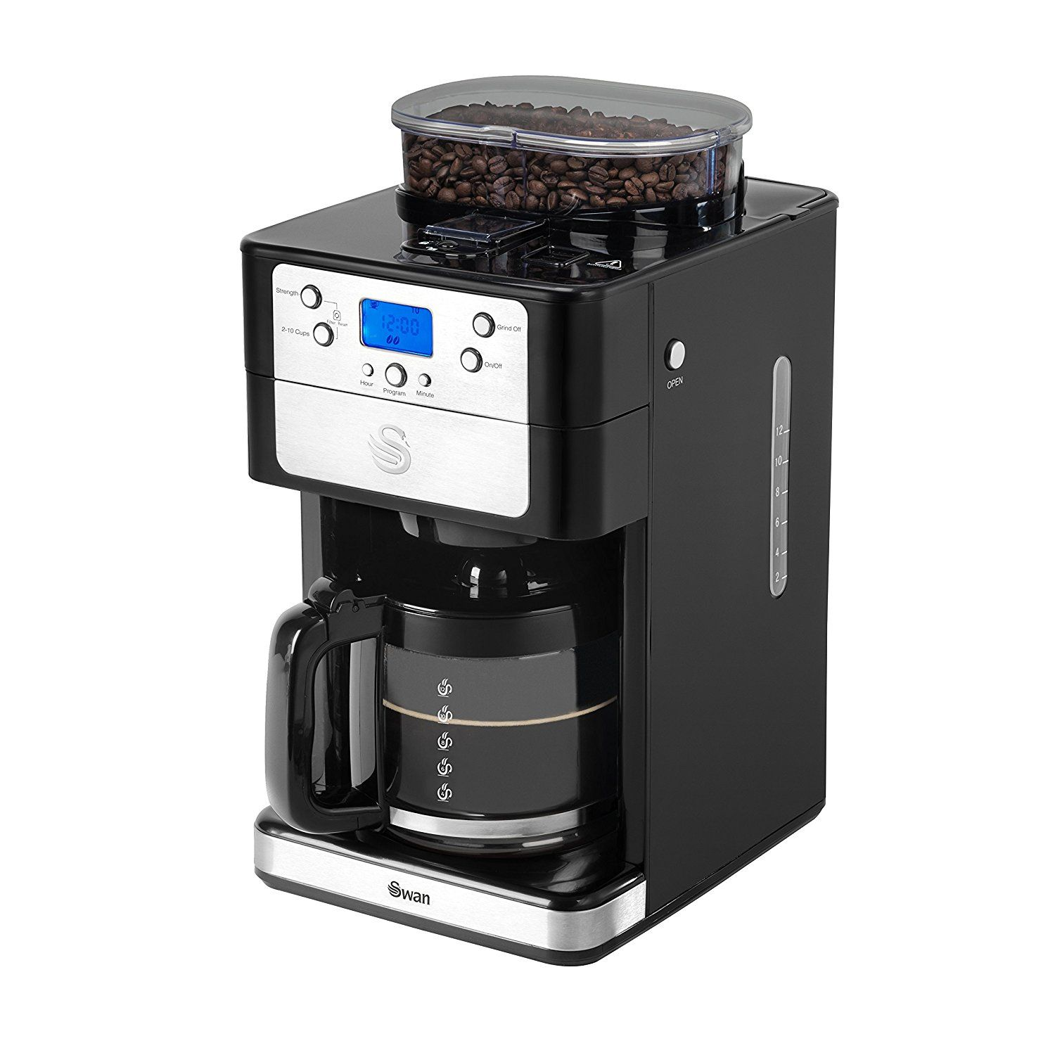 Swan Bean to Cup Coffee Maker, 1.25 Litre Coffee maker