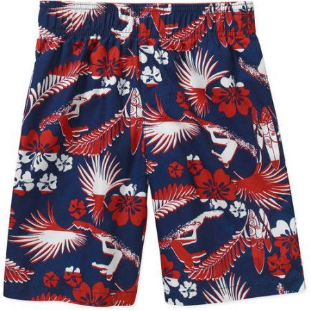 78d9fa32d4 OP Boys' Printed Swim Shorts, Blue | Products | Swimsuit with shorts ...