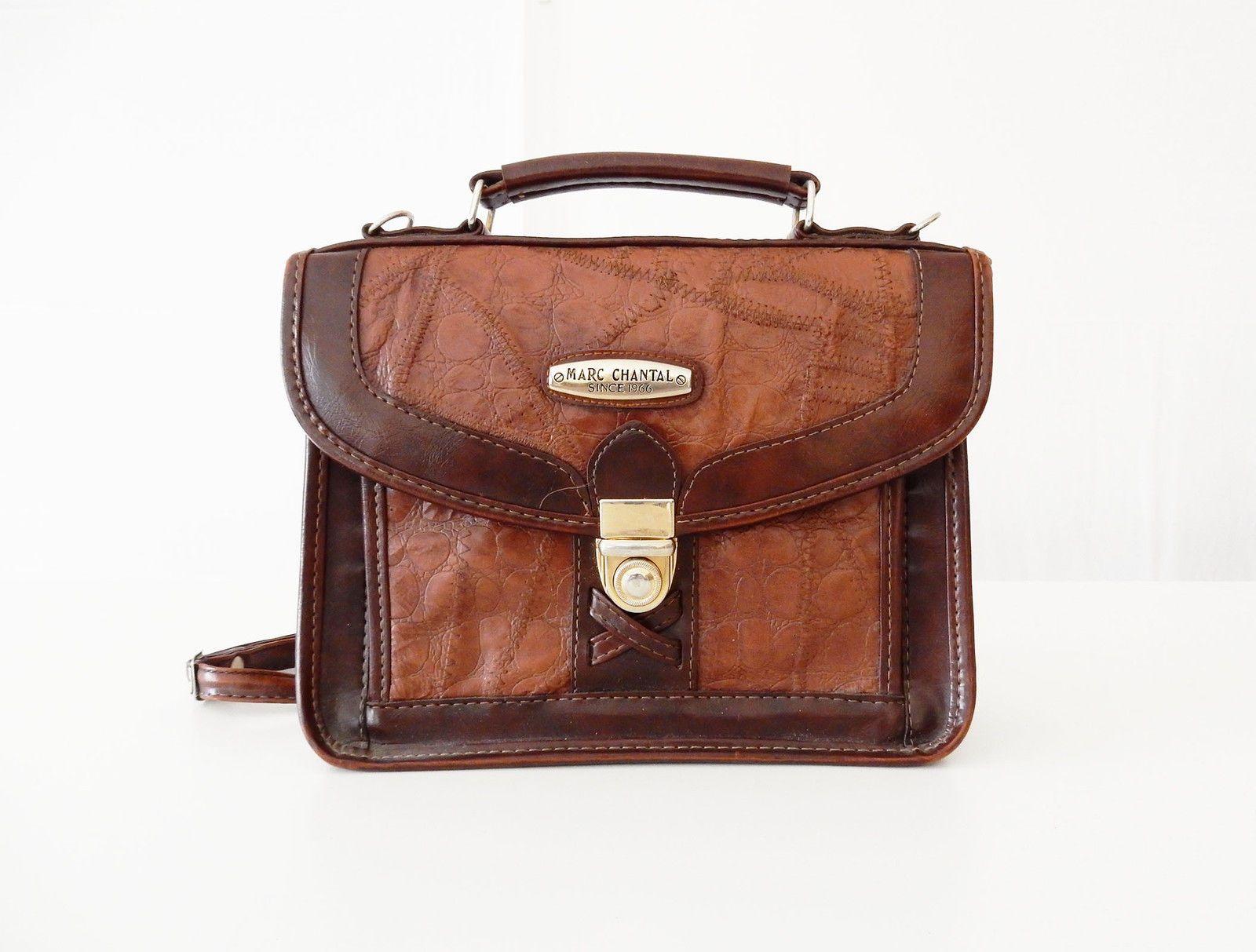 MARC CHANTAL VINTAGE RARE BORSA BAG LEATHER PELLE 80'S in Abbigliamento e  accessori, Vintage,