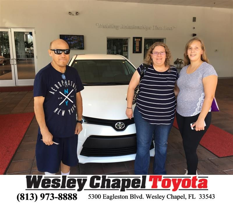 Congratulations teresa on your toyota corolla from