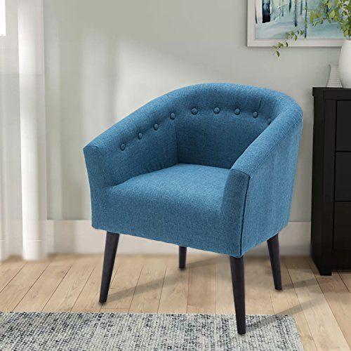 Dagonhil Camilla Barrel Back Accent Chair Fabric Arm Chair