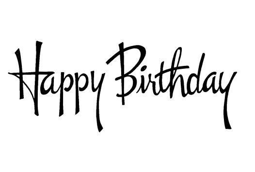 Happy Birthday - black  white HAPPY BIRTHDAY Greetings - lechezz