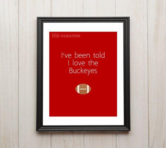 The Ohio State University Buckeyes Nursery Art By