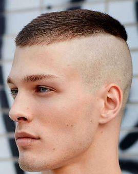 Bald Fade Men Faces Włosy Fryzura Fryzury