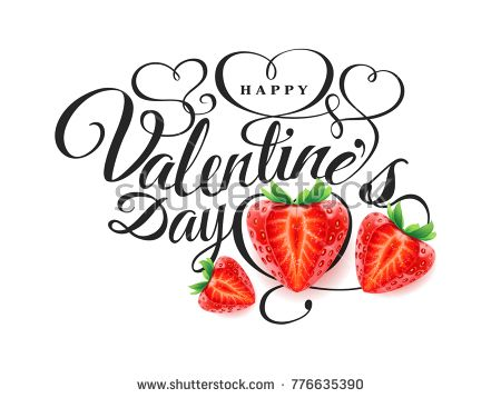 Happy Valentine s day Font composition with beautiful 3d realistic - fresh invitation banner vector