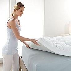 bed bath beyond mattress topper image of Brookstone® BioSense™ Memory Foam Mattress Topper | blue  bed bath beyond mattress topper