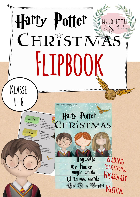 Flipbook Daumenkino Hogwarts Weihnachten Englischunterricht