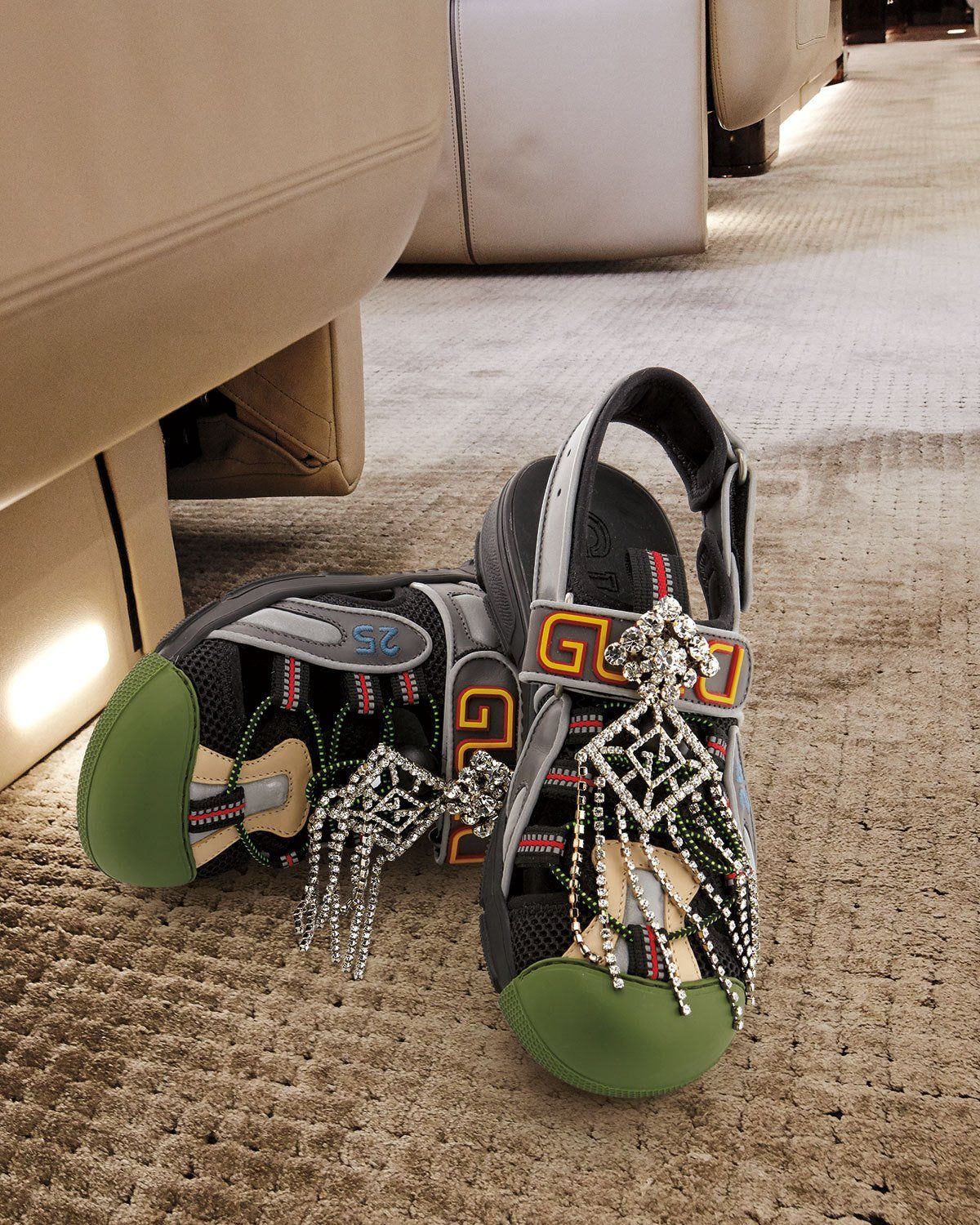 198a9567b57 Tinsel Embellished Sneaker-Style Sandals Black in 2019 | shoes ...