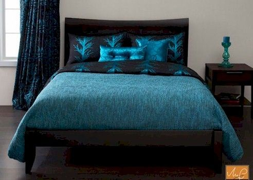 Aqua Comforter Sets Queen | Whistle Creek Turquoise Reversed Bedding Set  Collection