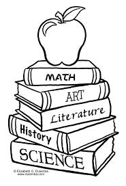 Bildergebnis für malvorlage buch School coloring pages