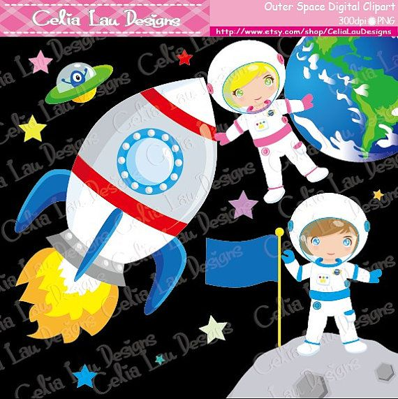 Outer Space Clipart Astronaut Clip art for by ...