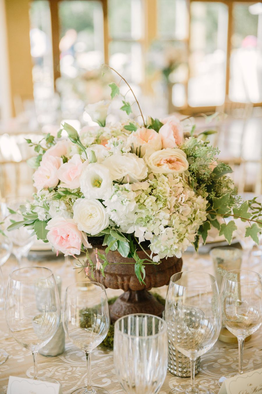 Blush and Ivory Centerpiece  Centerpieces Ivory and Wedding
