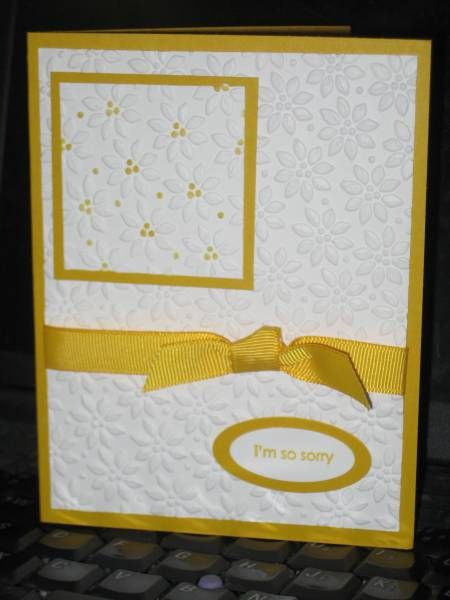 Pretty card with all the different embossing on it.