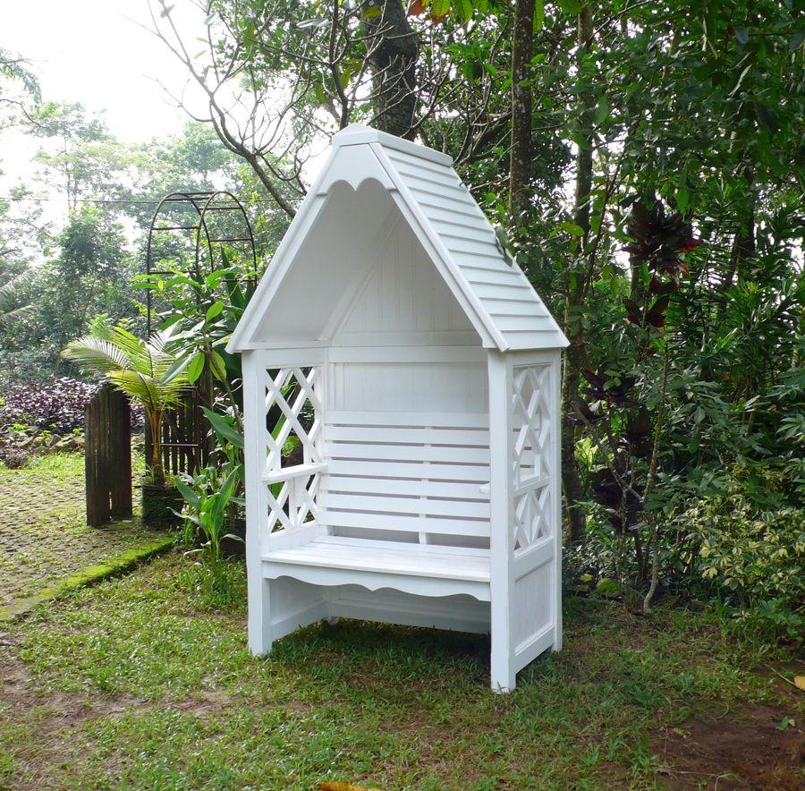 Holzkistchen Mit Hübsch Kleines Schwedenhaus Shabby Chic: Laubenbank Bali - Mahagoni-Vollholz