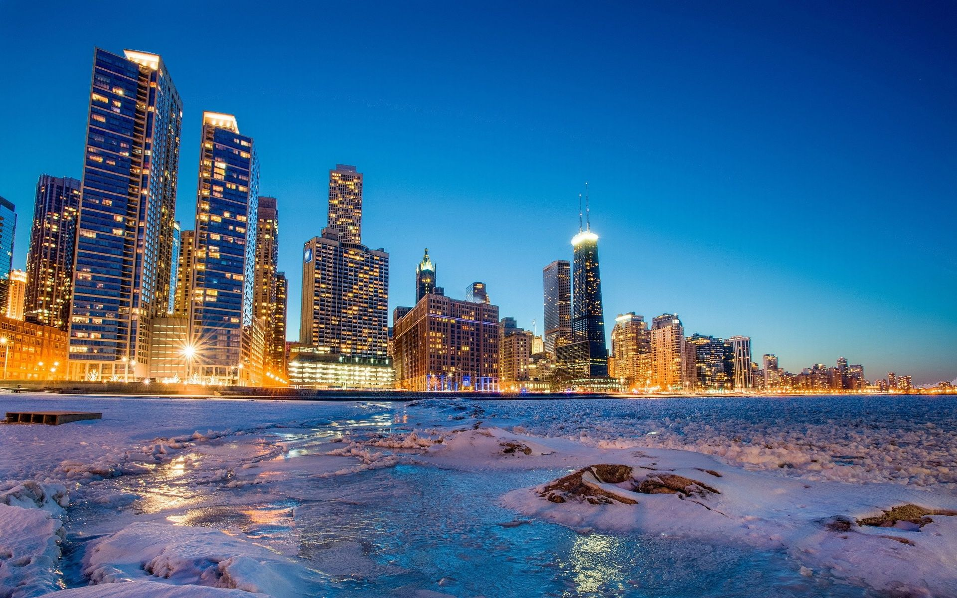 Ultra Hd Chicago Skyline Winter 1920 1200 Hq Picture Chicago Skyline Pictures Chicago Photos Chicago Pictures