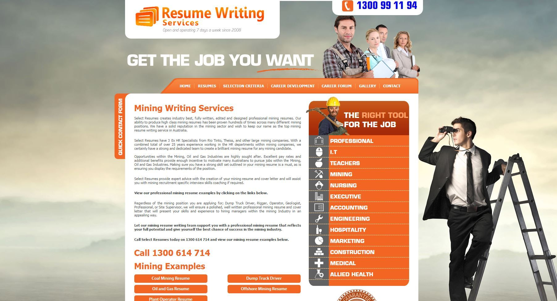 We produce 100's of mining resumes every month. From Dump