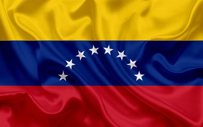 Download Wallpapers Venezuelan Flag Venezuela National Flag Silk Texture Flag Of Venezuela Besthqwallpapers Com Venezuela Flag Flag Flag Drawing