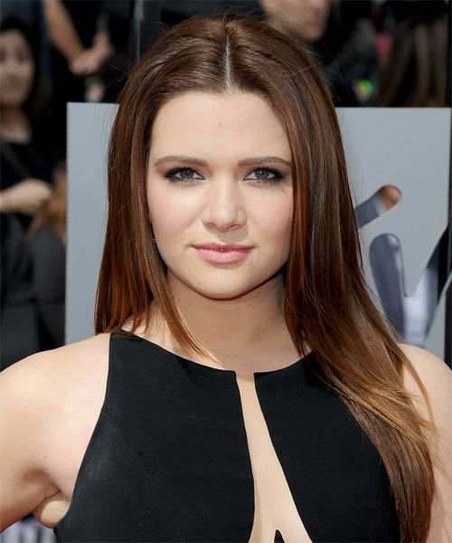 Katie Stevens Long Straight Casual Hairstyle   Medium Brunette