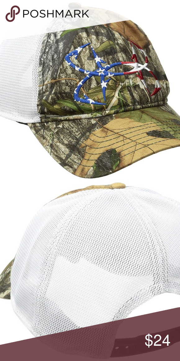 a2ffa011 Under Armour Men's Fish Hook Camo Flag Logo Cap Under Armour Men's Fishing  Hunting Big Flag