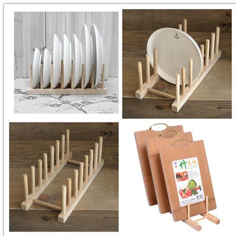 Cheap Cocina de madera Titulares Bastidores De Almacenamiento de - estantes para cocina
