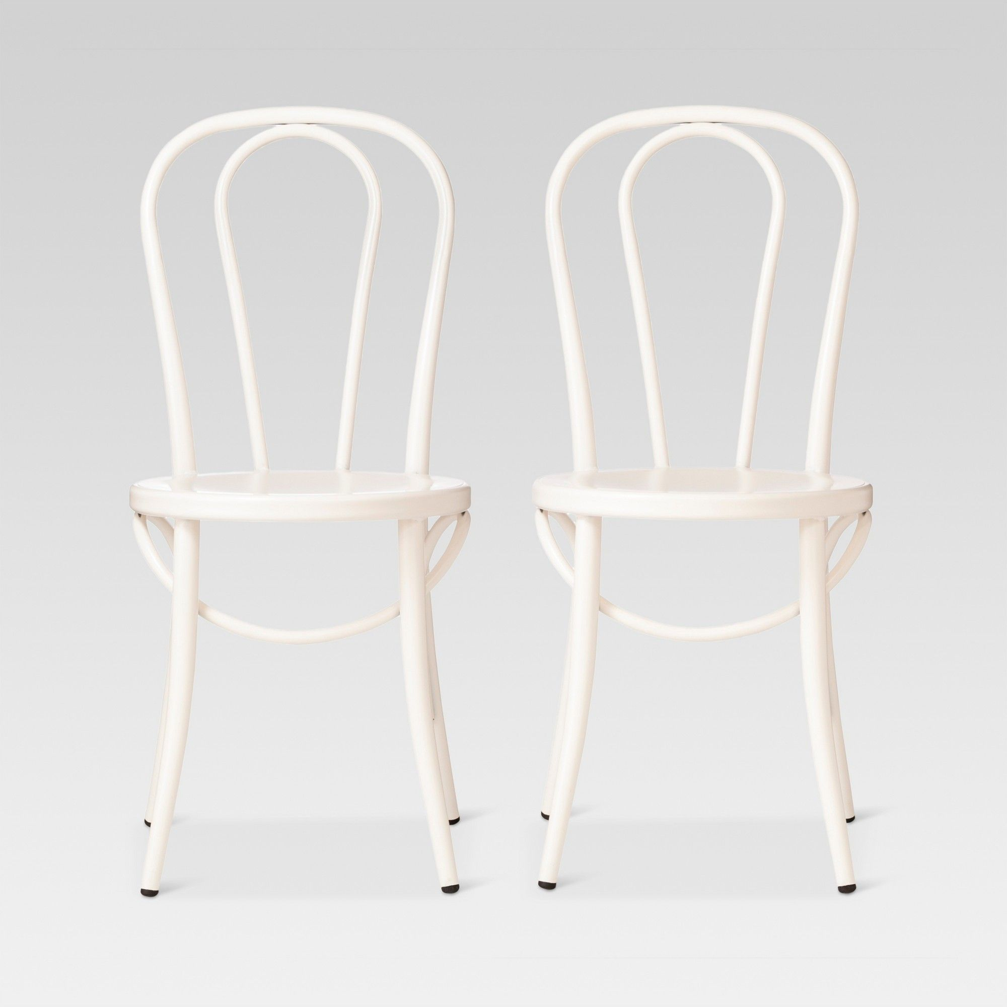 White Bistro Chairs Emery Metal Bistro Chair Off White Set Of 2 Threshold In