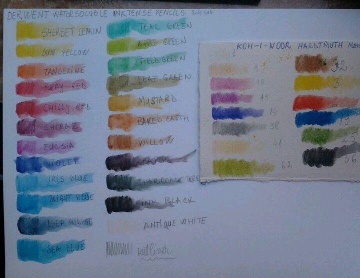 Derwent color chart