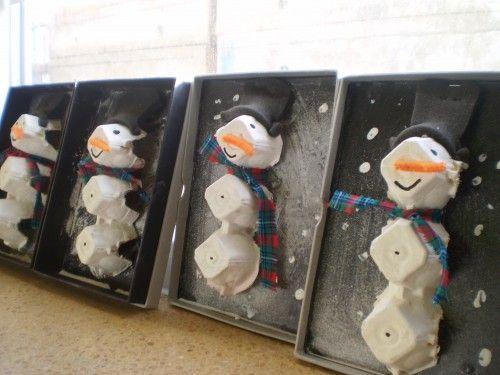Sneeuwman Maken Kunst Lastele Winter Winter Christmas Winter Art